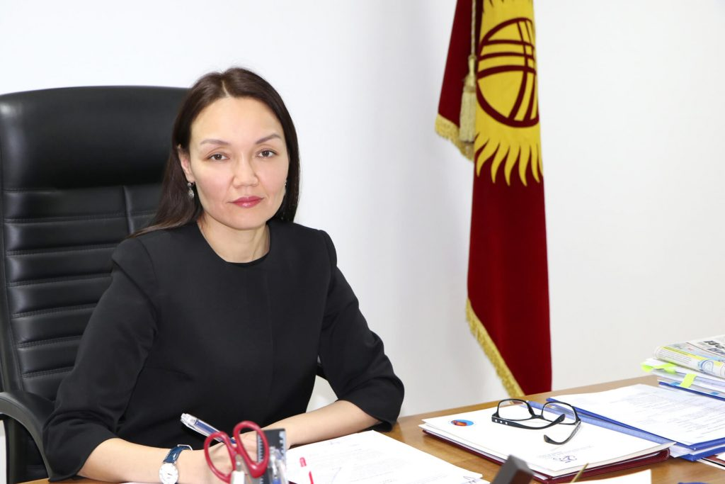 Председатель Кыргызпатента Динара Молдошева. Фото предоставлено пресс-службой ЕАКОП